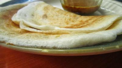 Serve egg dosa with sambar