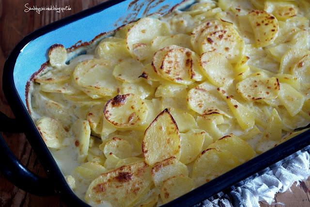 Rezept Kartoffelgratin ohne Käse