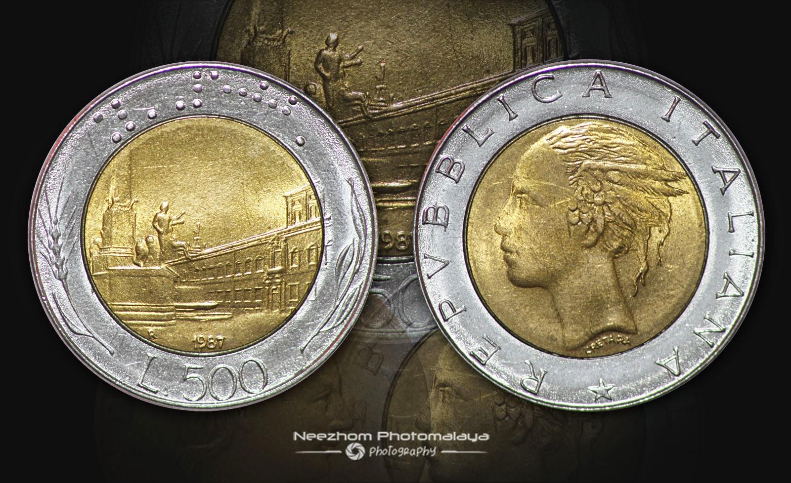 500 Lire 1987 Italy bi metal coin