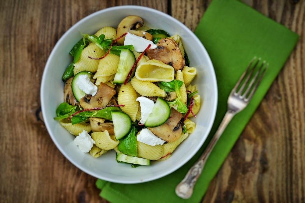 Warm Mushroom, Sun Dried Tomato And Goat Cheese Salad ...