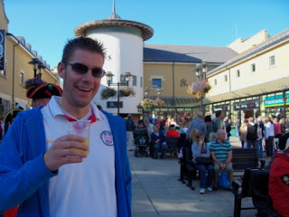 Photo: Richard enjoys a Battle Cider while listening to the Town Criers Championships in Hastings