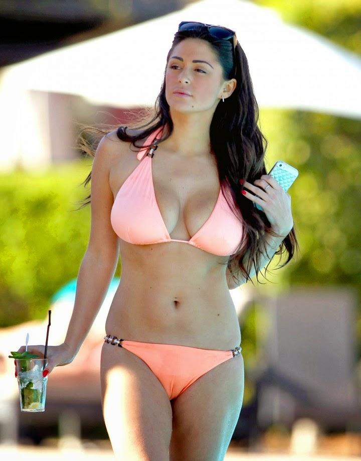 Casey Batchelor - Looking Hot in Pink Bikini 2014 Photos