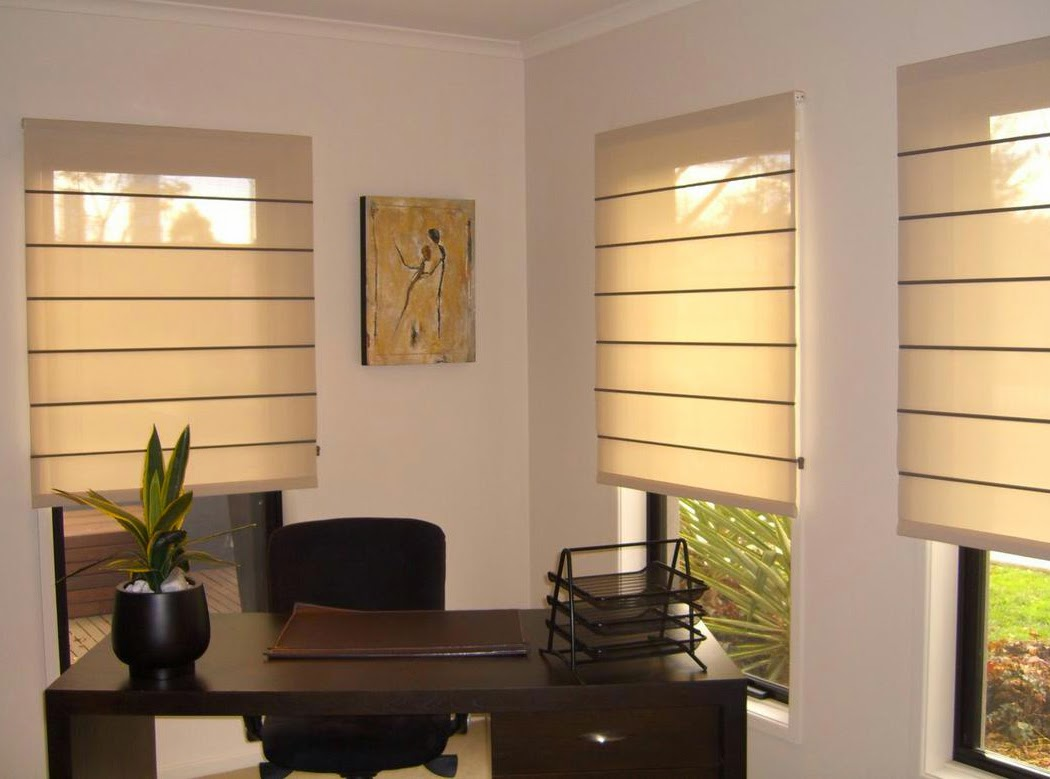 Ready Made Roman Blinds Office