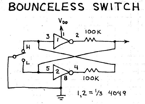 electronic circuits for beginners  bounceless switch
