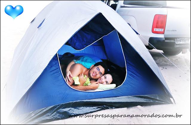 acampar na praia