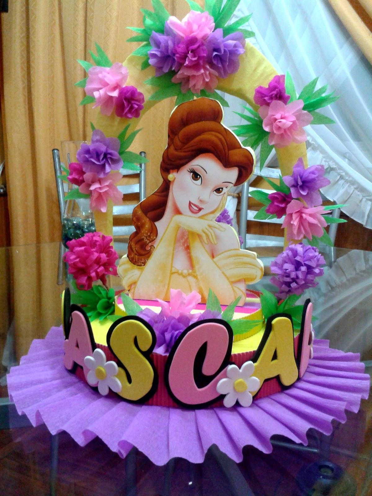 Decoraciones infantiles princesa bella auto design tech - Decoracion fiesta infantil ...
