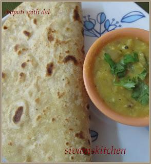 Sivaniskitchen-Chapati with masala dal