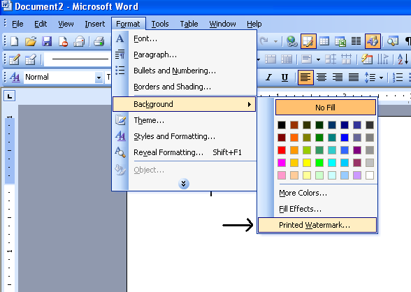Watermark In Microsoft Word 2003 Microsoft Office Support