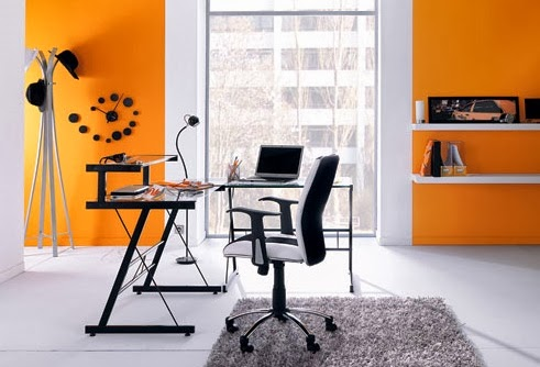 oficinas color naranja colores en casa