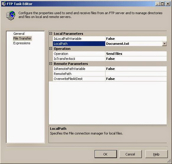 how to send files using ftp task in ssis