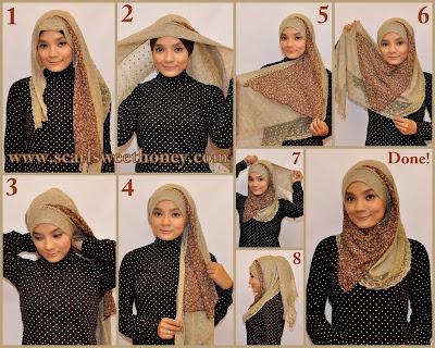 Cara Mudah Memakai Jilbab Modern