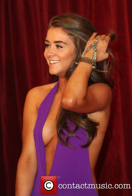 Brooke Vincent sexy in dress