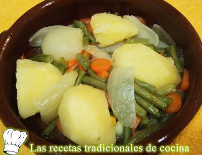 hervido de verduras