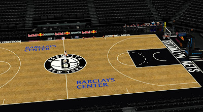 NBA 2K14 Brooklyn Nets Court, Floor, Dornas, Stadium Update