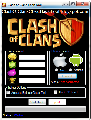 Clash of Clans Triche And Hacks Gems Gold and Elixirs