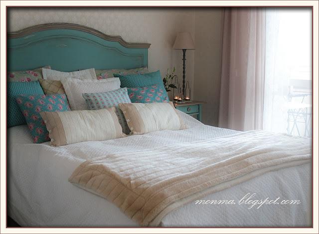 Shabby chic sänggavel