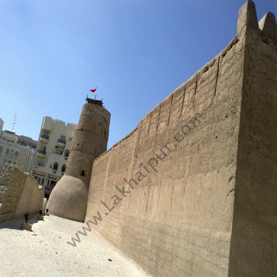 Old wall of Dubai museum