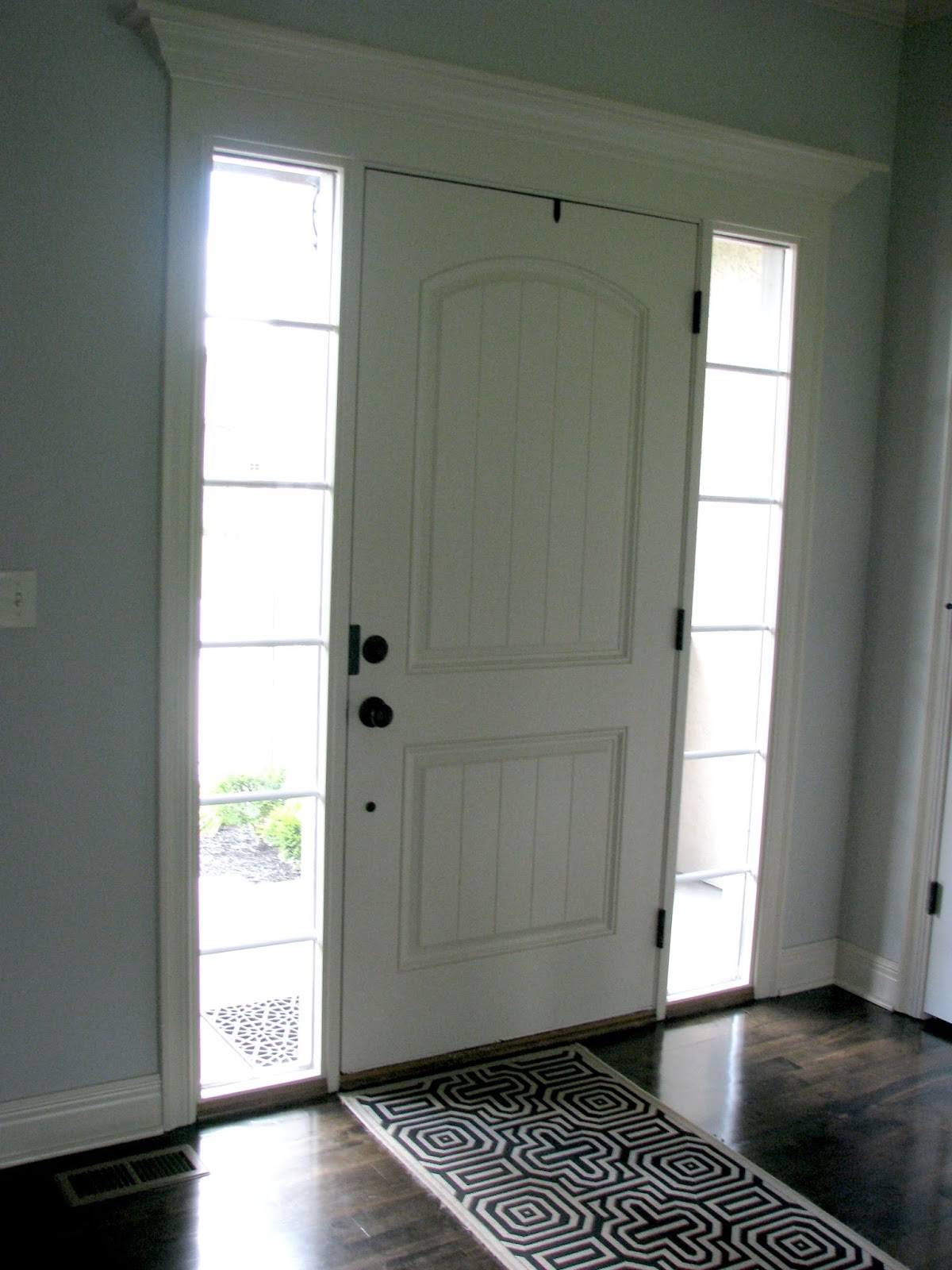 Life love larson black interior front door now that the door is black the moldings stand out and the door doesnt look so builder grade planetlyrics Images