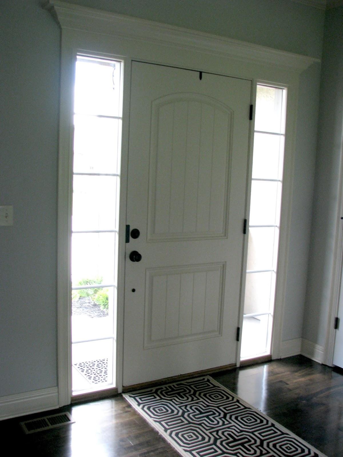 Black interior front door - Now That The Door Is Black The Moldings Stand Out And The Door Doesn T Look So Builder Grade