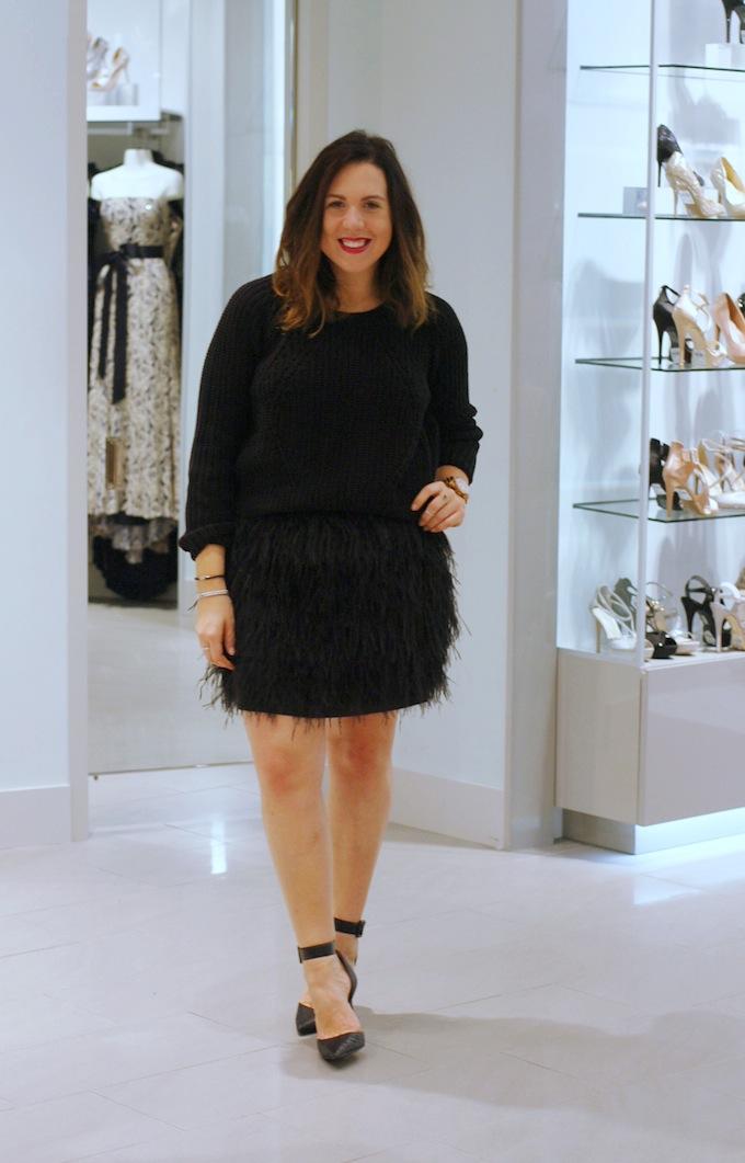 Le Château feather dress