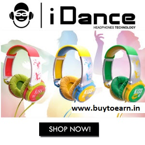 Snapdeal : Buy iDance KM Kiss Me Over Ear Headphone Rs. 1249 only