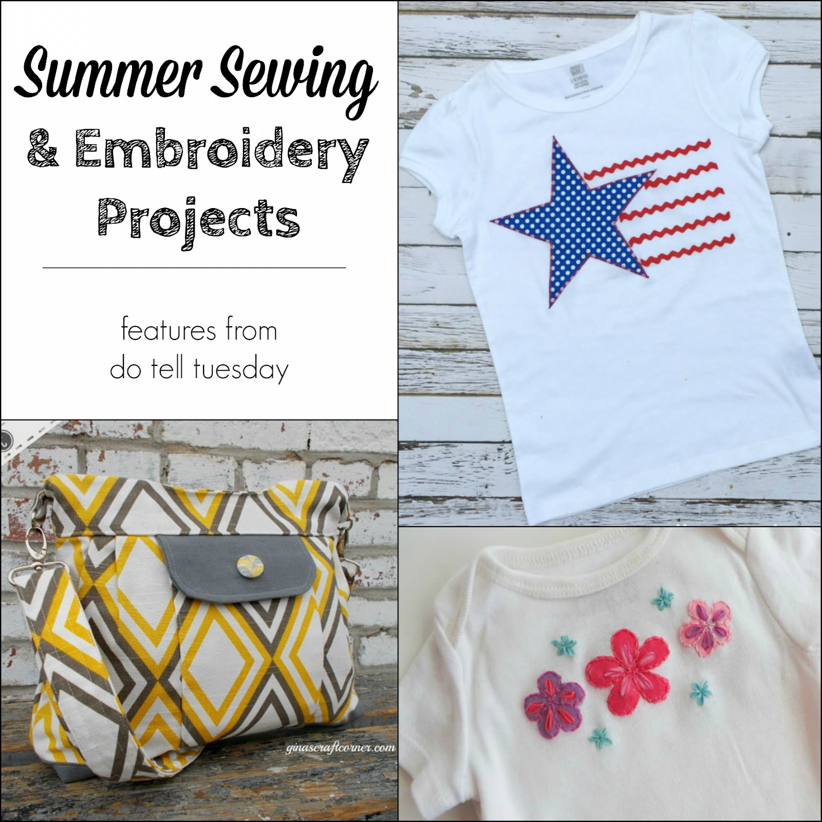 Summer Sewing & Embroidery Projects on Diane's Vintage Zest!