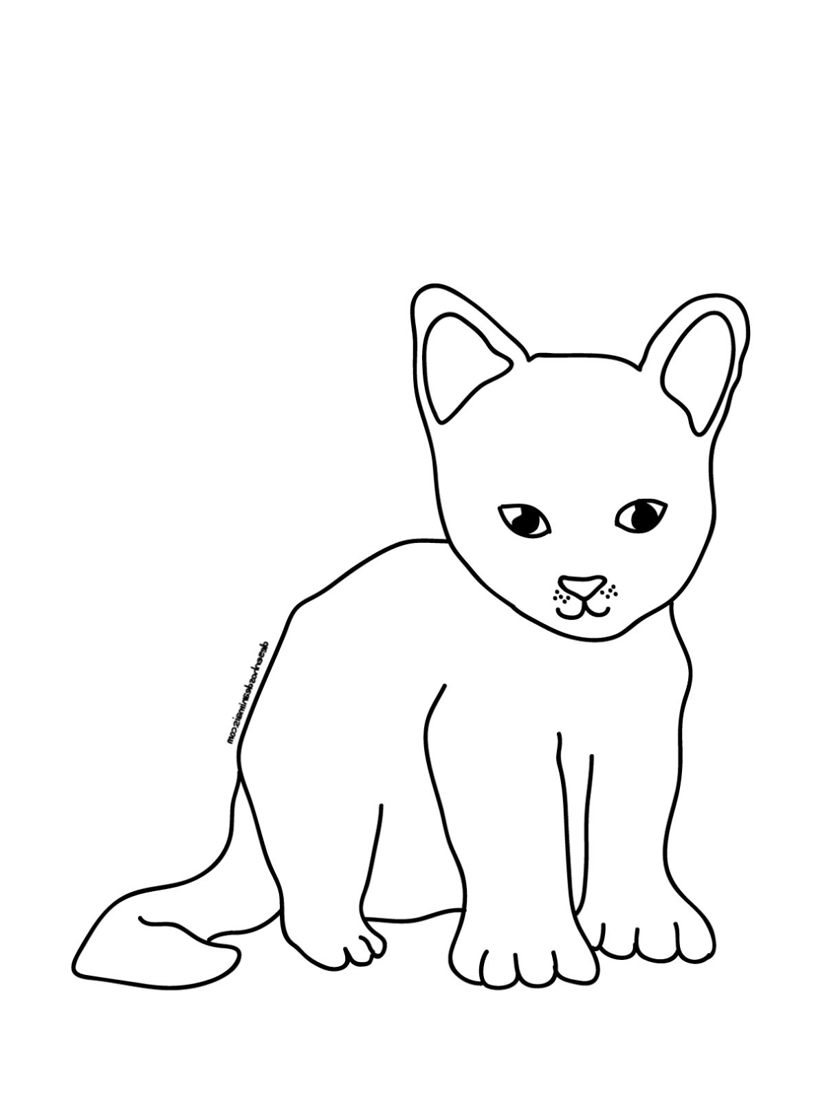 Bilder Zum Ausmalen Katze - KATZE zum Ausmalen Katze Bild zum Ausmalen