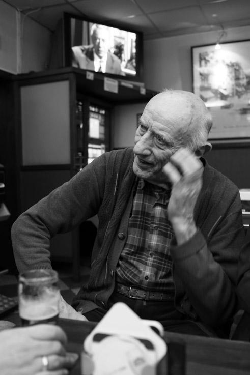 photo, portrait d'homme, charly, charlie, taverne des vennes, Liège, © dominique houcmant
