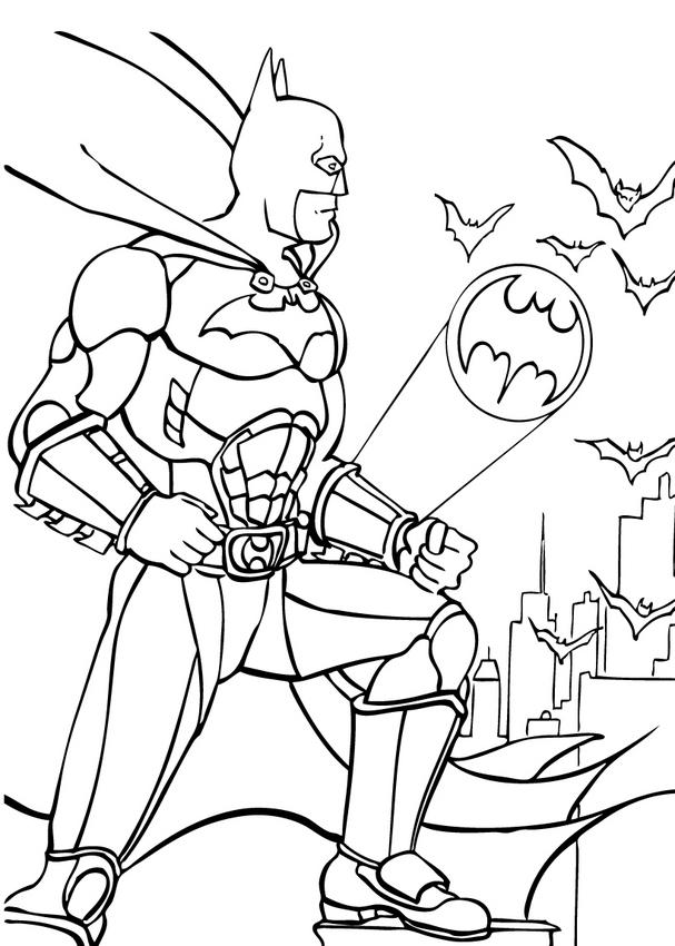 coloring pages batman 1 - photo#3