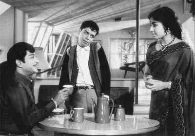 Shivaji Ganesan, Nagesh & J. Jayalalitha in 'Sumathi en Sundari' Movie