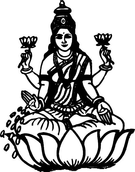 Line Art Hindu Gods : Best collection store hindu devi god black white