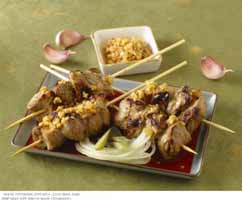 Weight Loss Recipes : Grilled Beef Satay with Peanut Sauce
