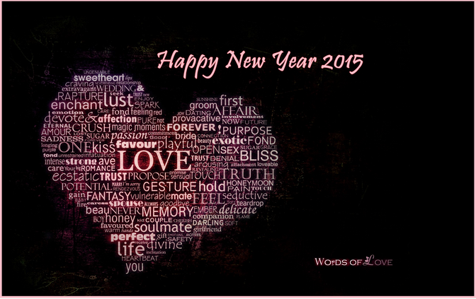 gambar kata selamat tahun baru 2015