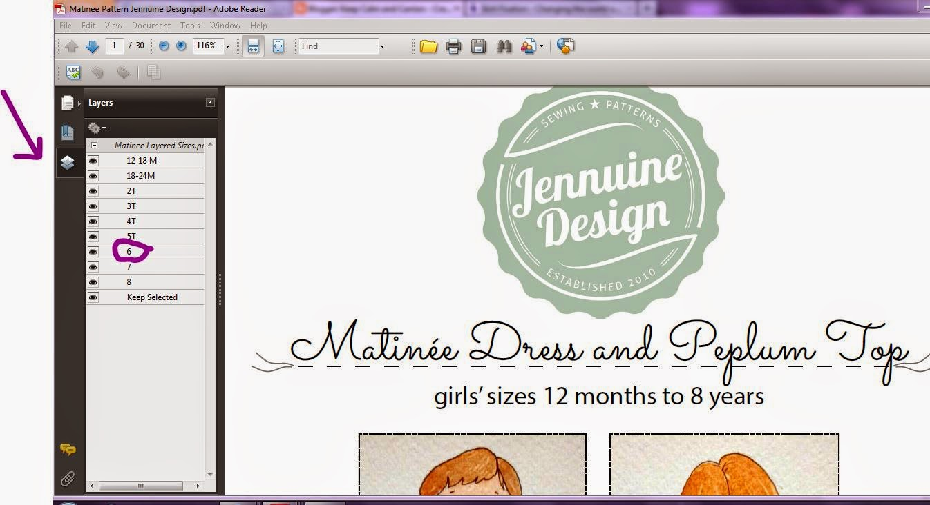 Jennuine Design  - The Matinée Dress and Peplum