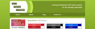 Daftar Situs Penyedia  Pembuatan Menu CSS Gratis