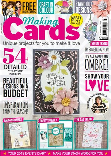 CURRENTLY FEATURED IN THE JANUARY ISSUE OF MAKING CARDS MAGAZINE