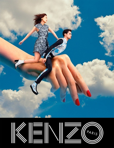 Sean O'Pry and Rinko Kikuchi for Kenzo x TOILETPAPER