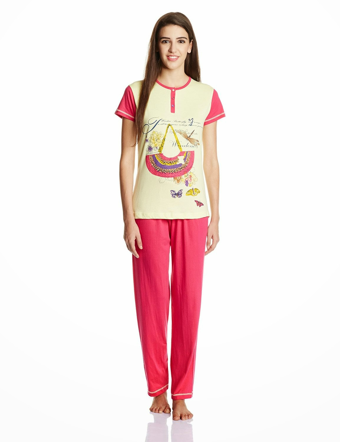 Buy Ziva Fashion Women's Cotton Pyjama Set at Rs 299 only