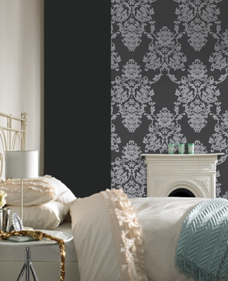 wallpaper design damask wallpaper designs interior bedroom similiar damask bedroom wallpaper keywords - Damask Bedroom Ideas