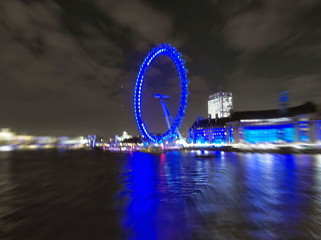 The London Eye on south bank of River Thames