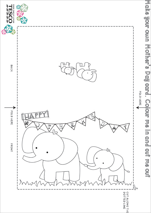 My Owl Barn: Printable Mother'S Day Coloring Card Templates
