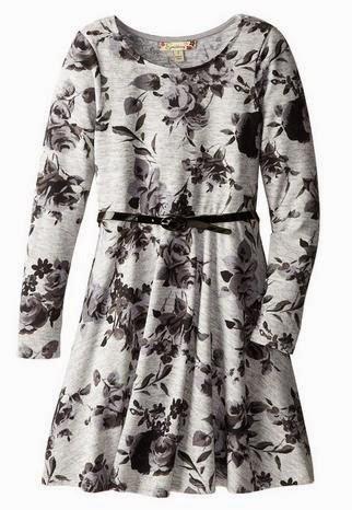 Speechless Big Girls' Belted Lightweight Sweater Dress