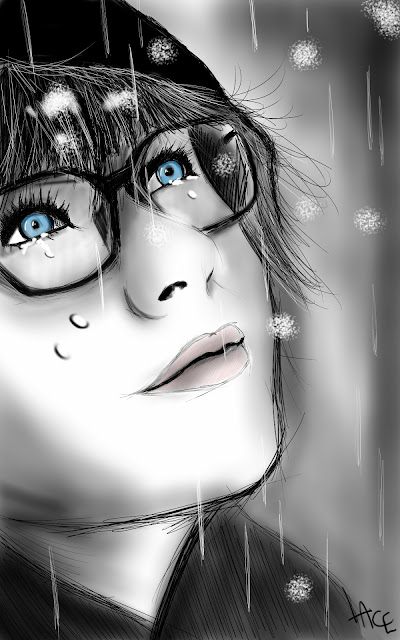 fille triste girl sad dessin sketchbook pro galaxy note