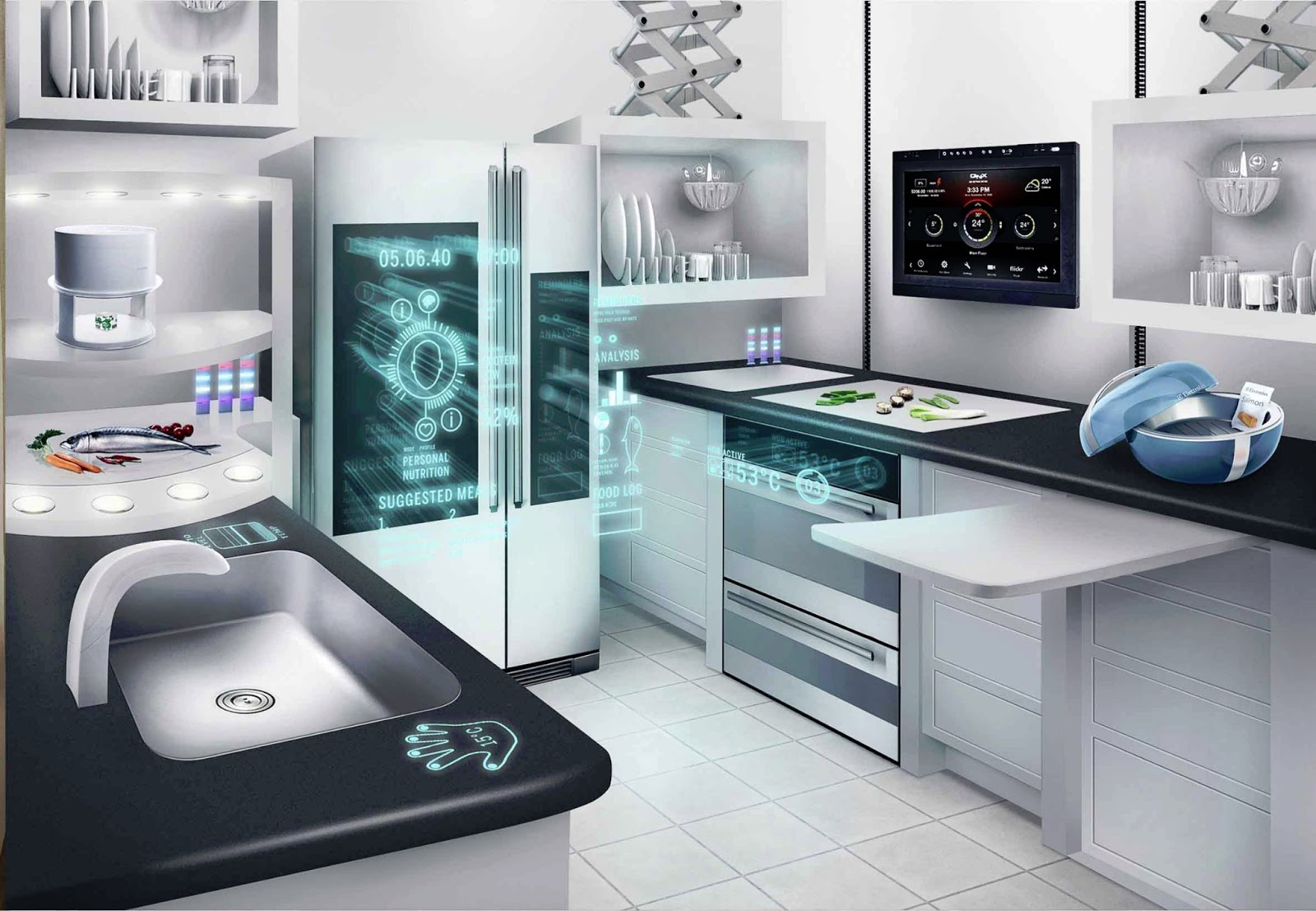 Network Connected Appliances for Future Kitchens