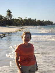 Debra on Jambiani Beach, Zanzibar