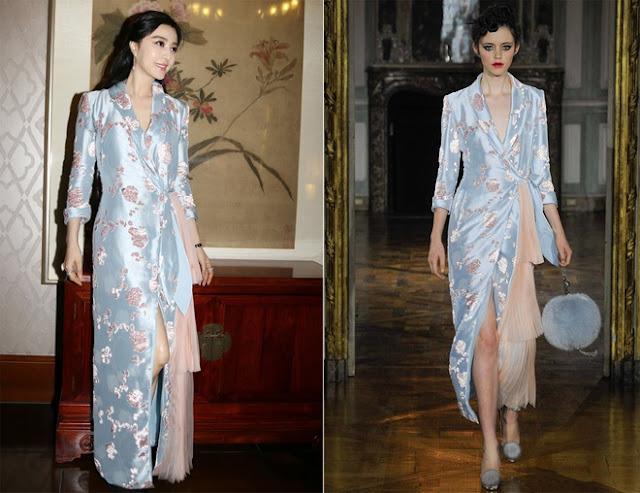 Thiết kế cảm hứng váy ngủ trong bộ sưu tập Thu Đông 2015 của Ulyana Sergeenko được lòng người đẹp.
