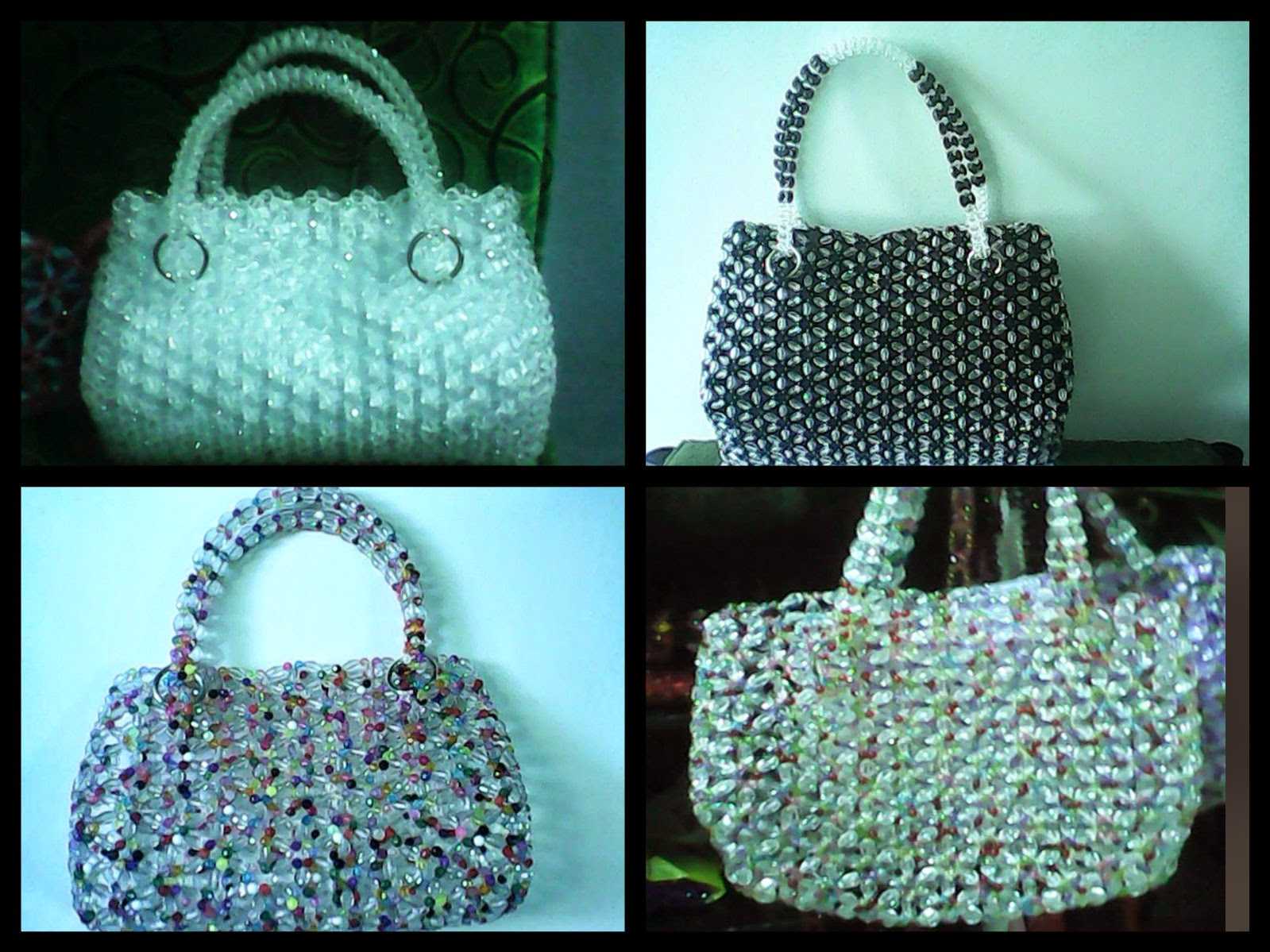 "<img src=""beads.gif"" alt=""different designs of bags made of beads "" />"