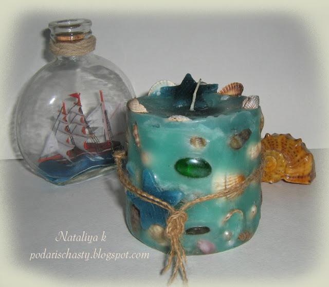 морская свеча ручной работы