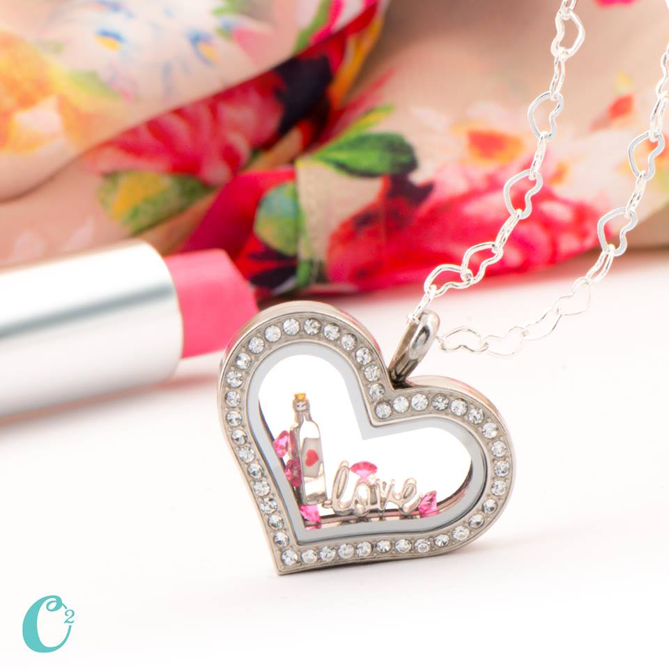 Love in Bottle Origami Owl Heart Living Locket - Shop StoriedCharms.origamiowl.com