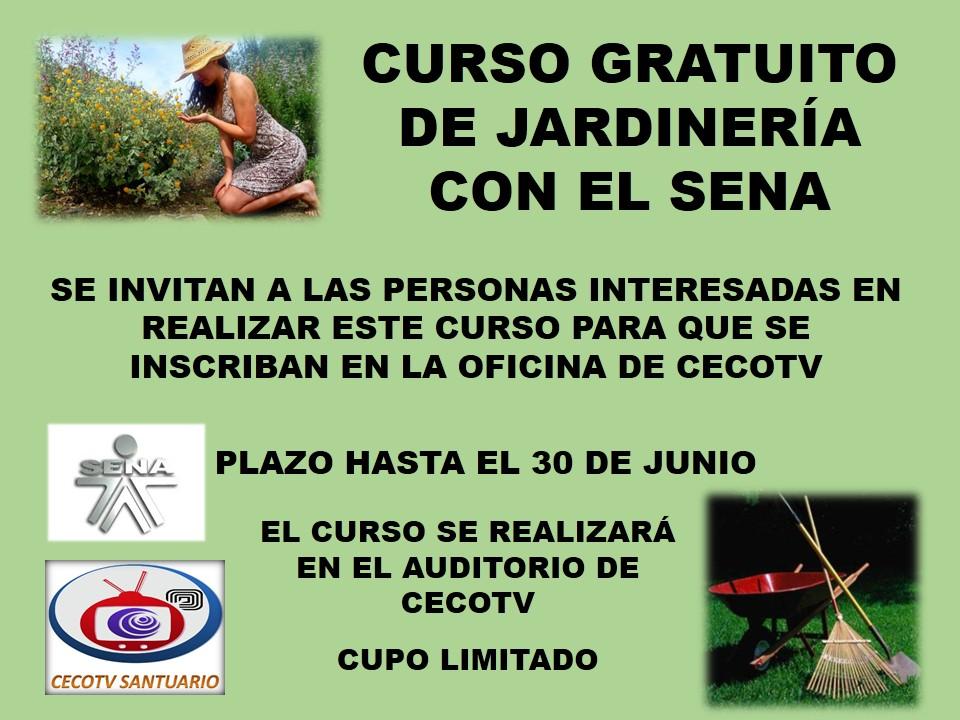 Medios ciudadanos y comunitarios santuario rda curso de for Aprender jardineria